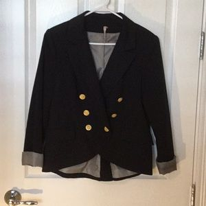 Willow & Clay Navy Double Breasted Blazer Jacket
